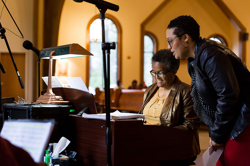 Gloria Burton works in music ministry at Durham's Holy Cross Parish, which is known for its upbeat, intimate and emotionally rich gospel music.