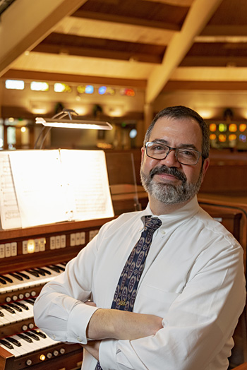 Alex Hill, director of music and liturgy at St. Mark Catholic Church in Wilmington