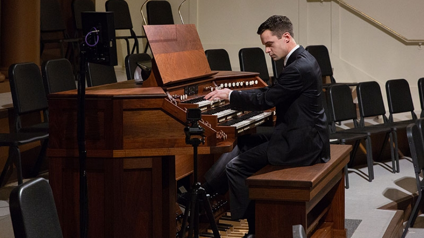 Nathan Laube, a world-renowned musician, performed a concert following vespers