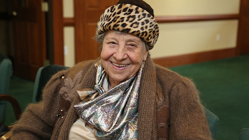 Alma McClune, 97, has been a member of St. Brendan Parish in Shallotte for 31 years.