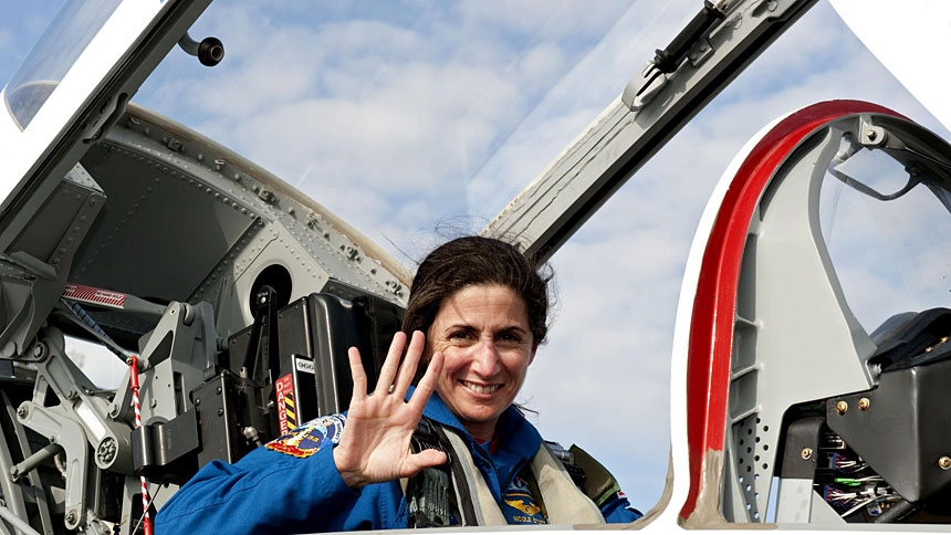 In her NASA career, astronaut Nicole Stott, 56, had two opportunities to experience a small corner of the cosmos during a pair of space missions -- in 2009 when she spent three months aboard the International Space Station and in 2011 on a 13-day space shuttle mission. Stott, now retired, is pictured in a Feb. 20, 2011, photo. (CNS photo/Kim Shiflett, courtesy NASA)