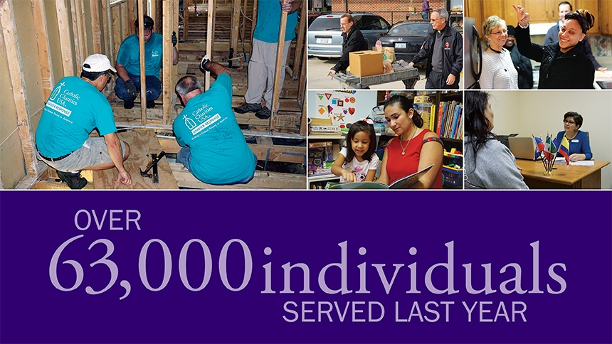 Catholic Charities: Over 63,000 individuals served last year
