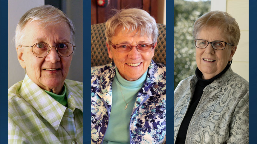 Three sisters celebrate 60 years of service each