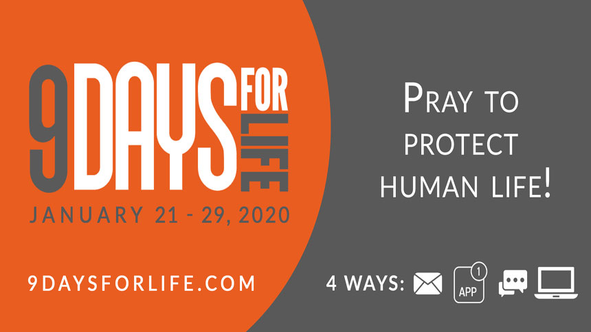 9 Days for Life: Pray to protect human life Jan. 21-29