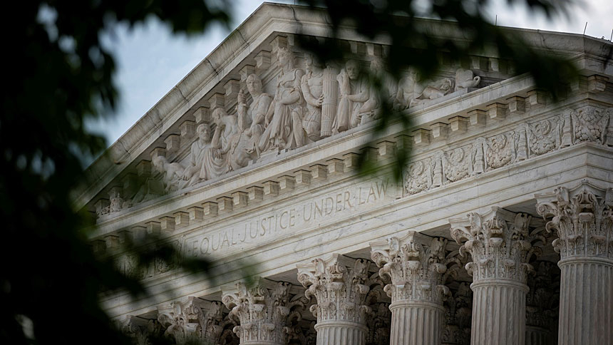 A general view of the U.S. Supreme Court in Washington is seen June 25, 2020. Legal experts have noticed a pattern in how the court handled religious liberty cases in the last term. (CNS photo/Alexander Drago, Reuters)