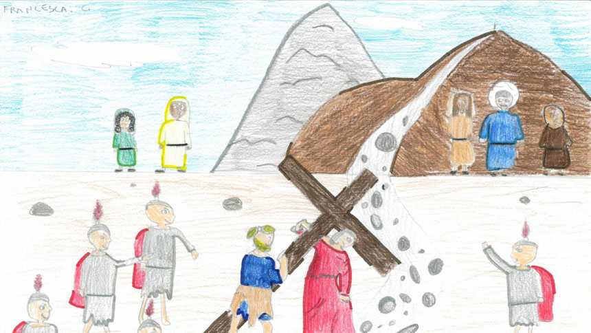 Let the children come to me: Pope's Via Crucis meditations written by kids