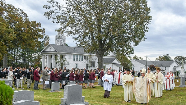 Faithful gather in Newton Grove on All Souls Day
