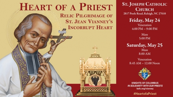 Heart of a Priest: Relic Pilgrimage of St. Jean Vianney's Incorrupt Heart to Visit St. Joseph's in Raleigh