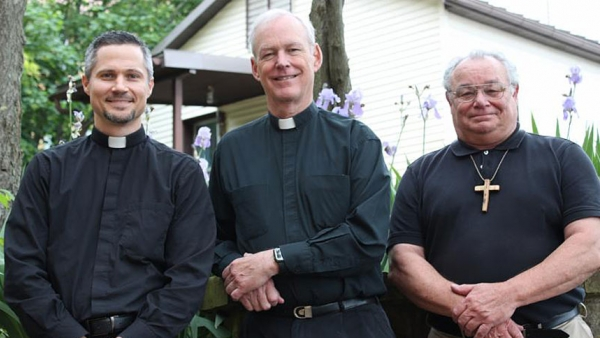 Father Dan Dorsey, center, is the new president of Glenmary Home Missioners. Father Aaron Wessman, left, is first-vice-president and Brother Larry Johnson is second-vice-president.