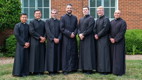 Seven seminarians declare intention to pursue holy orders