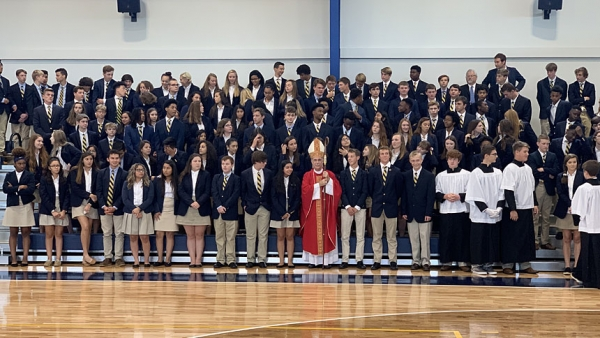 Enrollment, spirits, up at diocesan high school