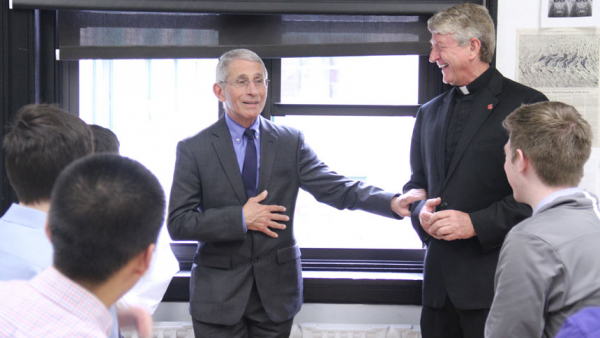 Dr. Fauci is dedicated to public service, formed at Jesuit high school