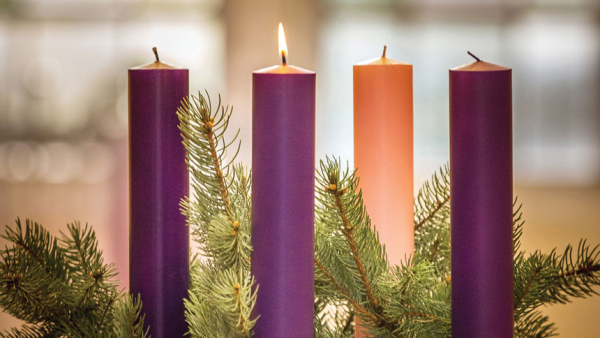 First Week of Advent wreath