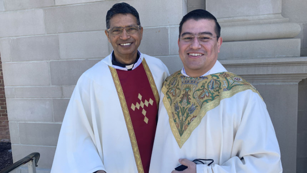 Two priests incardinated at Chrism Mass 2021